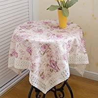 """Shineland Ziwei Multi-purpose cloth 51 x 51"""" inches Square Tablecloth Various Size Table Cover 130x130cm"""