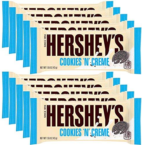 Hershey's Cookies 'n' Creme Bar, 1.55-Ounce Bar (Pack of 10) -