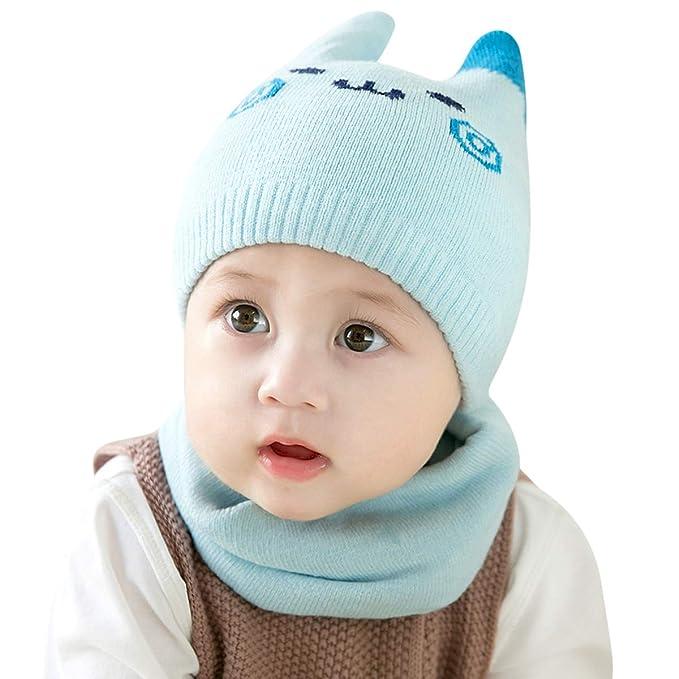 DORRISO Bambino Cappelli con Sciarpa Primavera Autunno Invernale Carina  Kitten Caldo Caps Cappelli Adatto per Bambini di 1 mese-24 Mese  Amazon.it   ... 7ff6b2b2098e