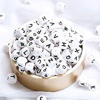 Mamimami Home Alfabeto Cubo Bolas de silicona de grado alimenticio en 26 letras Bolas de masticación de silicona libres de BPA para dientes