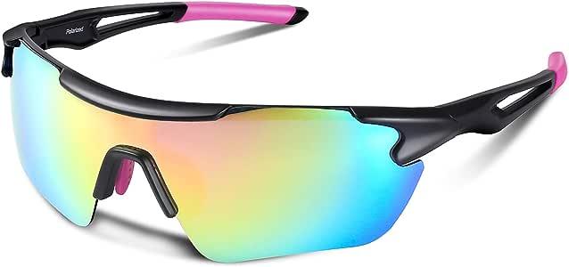 Bea Cool Gafas de Sol Polarizadas Hombre con Protección UV400, Gafas del Sol Deportivas Unisex con Lente REVO y Marco PC Ultra Ligero para Ciclismo Pesca Conducción Esquí Golf Montañismo (Rosa): Amazon.es: