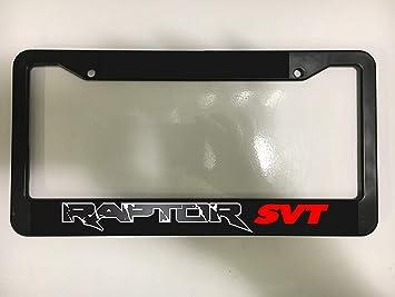 EHAKB Frame Raptor SVT Ford F150 Truck 4X4 Racing Off Roading Black License Plate Frame New 12 X 6