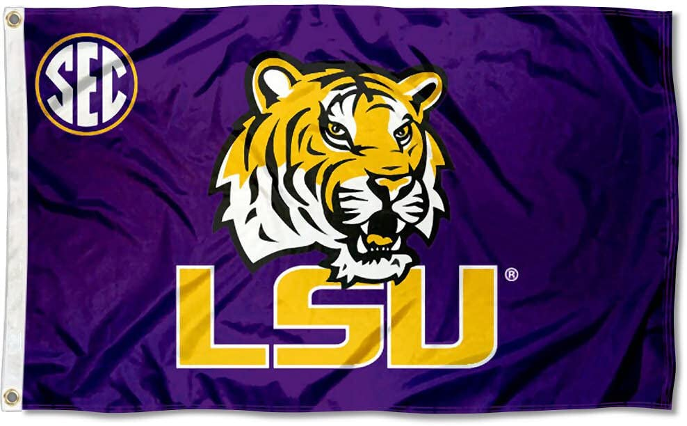 Amazon Com College Flags Banners Co Lsu Tigers Sec Flag Outdoor Flags Sports Outdoors