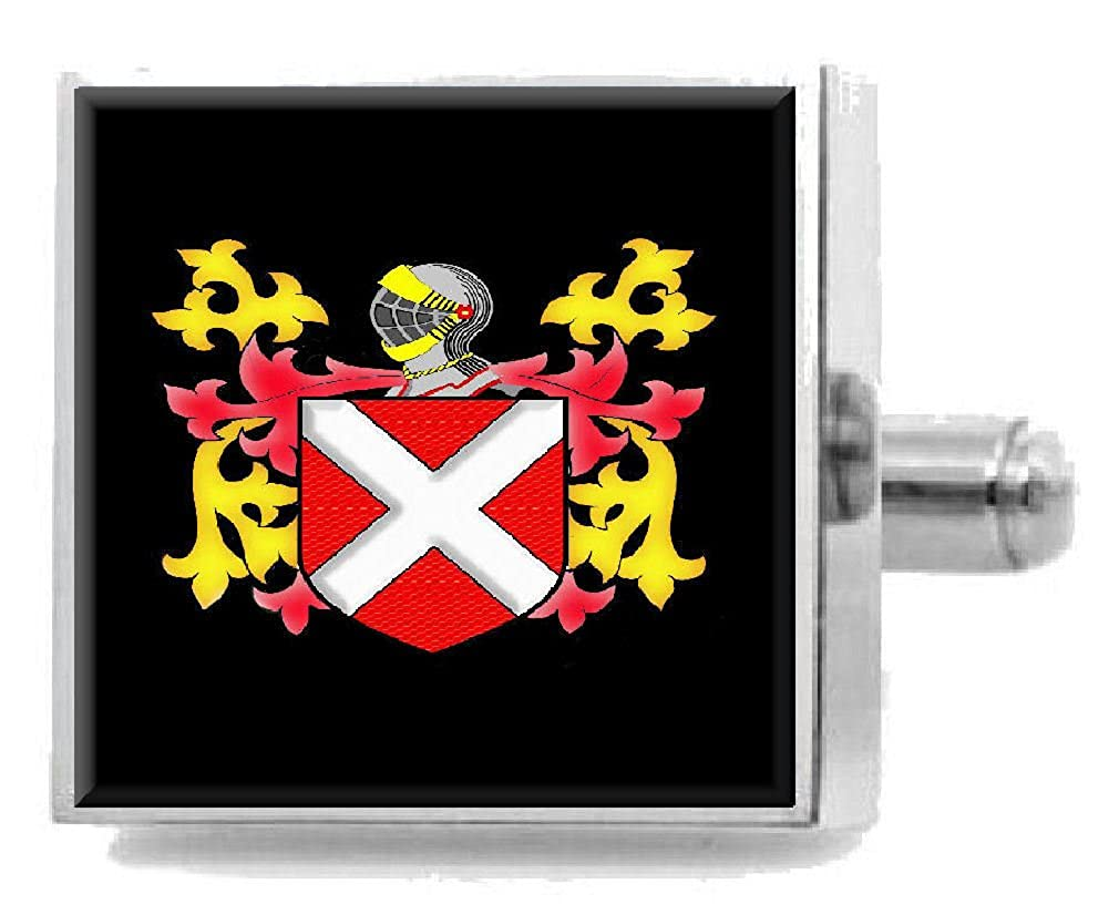 Select Gifts Neville Ireland Family Crest Surname Coat Of Arms Cufflinks Personalised Case