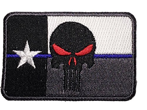 Patch Squad Men's Texas Flag Punisher Flag Patches