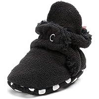 Baby Boys Girls Fleece Booties - Cotton Lining Anti-Slip Infant Warm Winter Crib Shoes