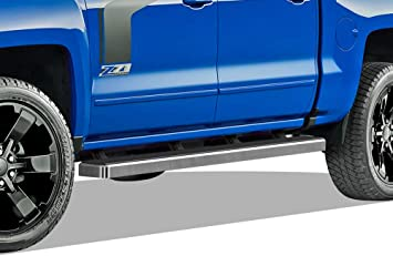 "For 07-18 Chevy Silverado Crew Cab 3/"" Black Hd Side Step Nerf Bars Running Board"