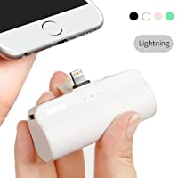iWALK 3300mAh Móvil Portátil Batería Externa, Ultra-Ligera Power Pack Compacto Power Bank Cargador con Incorporado Lightning para Apple iPhone 5 6 7 8 Plus X SE y así