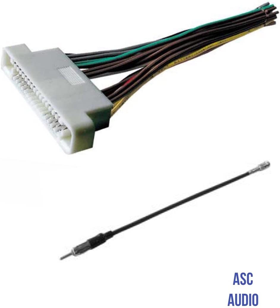 amazon.com: asc audio car stereo radio wire harness and antenna adapter to  aftermarket radio for some 2000-2006 buick lesabre, 2001-2003 oldsmobile  aurora, 2000-2005 pontiac bonneville- no factory bose/amp: car electronics  amazon.com