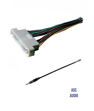 61 hyq2L6LL._SY450_ amazon com asc audio car stereo radio wire harness and antenna 2000 buick lesabre stereo wiring harness at n-0.co