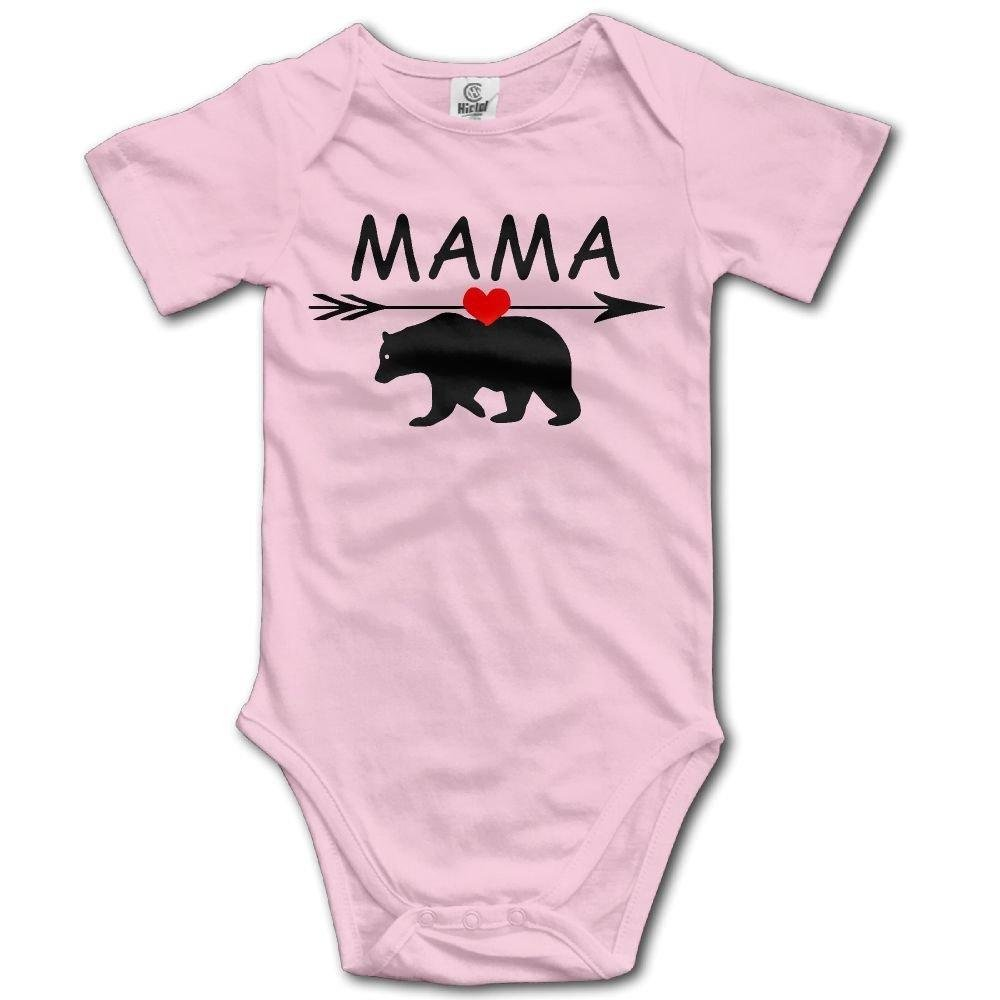 Mama Bear Infant Baby Boys Girls Crawling Suit Short Sleeves Onesie Romper Jumpsuit