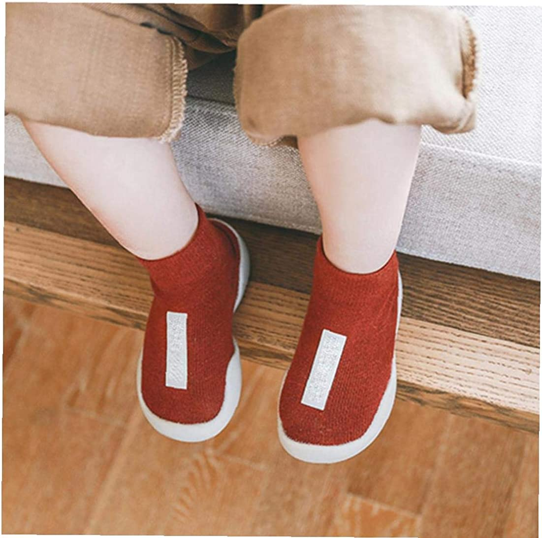 Red MaylFre Unisex Baby Socks Shoes Anti Slip Floor Socks with Soft Rubber Bottom Infant Newborn Cotton Sock Boots for Indoor Outdoor L Brick