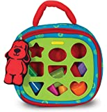 Melissa & Doug 19185 Sorter Kids Take-Along Baby Toy with 2-Sided Activity Bag and 9 Textured Shape Blocks, Multi-Colour