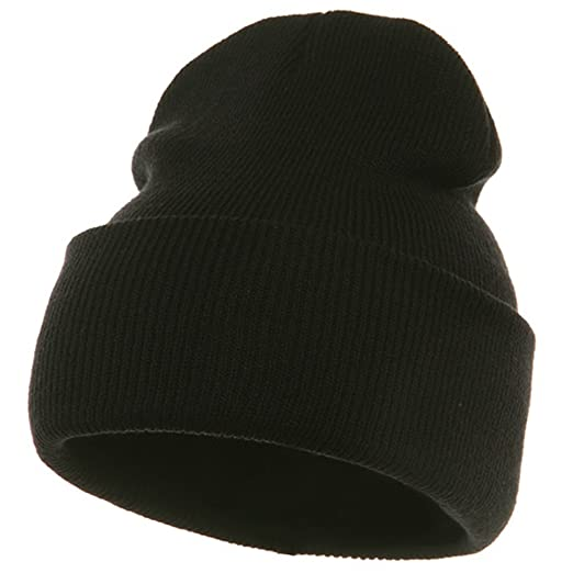 Long Beanie-Black at Amazon Men s Clothing store  Black Beanie 883aa13b339