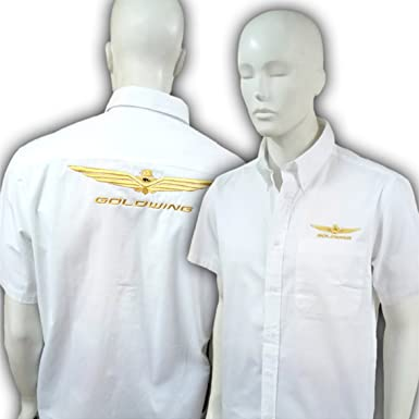 Camisa Bordada Goldwing M/Corta Mujer (L, Blanco): Amazon.es: Ropa y accesorios
