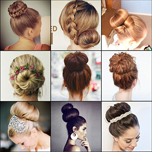 How to make a donut bun with thick hair