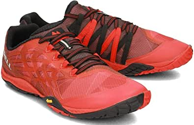 Merrel Trail Glove 4 Running Shoe for Men, Red, J09667