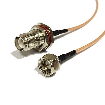 Adaptador WiFi antena RP TNC hembra a F macho RF Cable coaxial RG316 15 cm