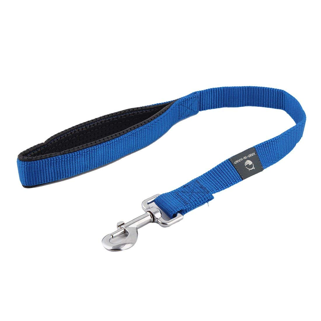 Nylon Pet Dog Round Rope Fasteners Practical Pulling Leash Strap Drawstring bluee Red