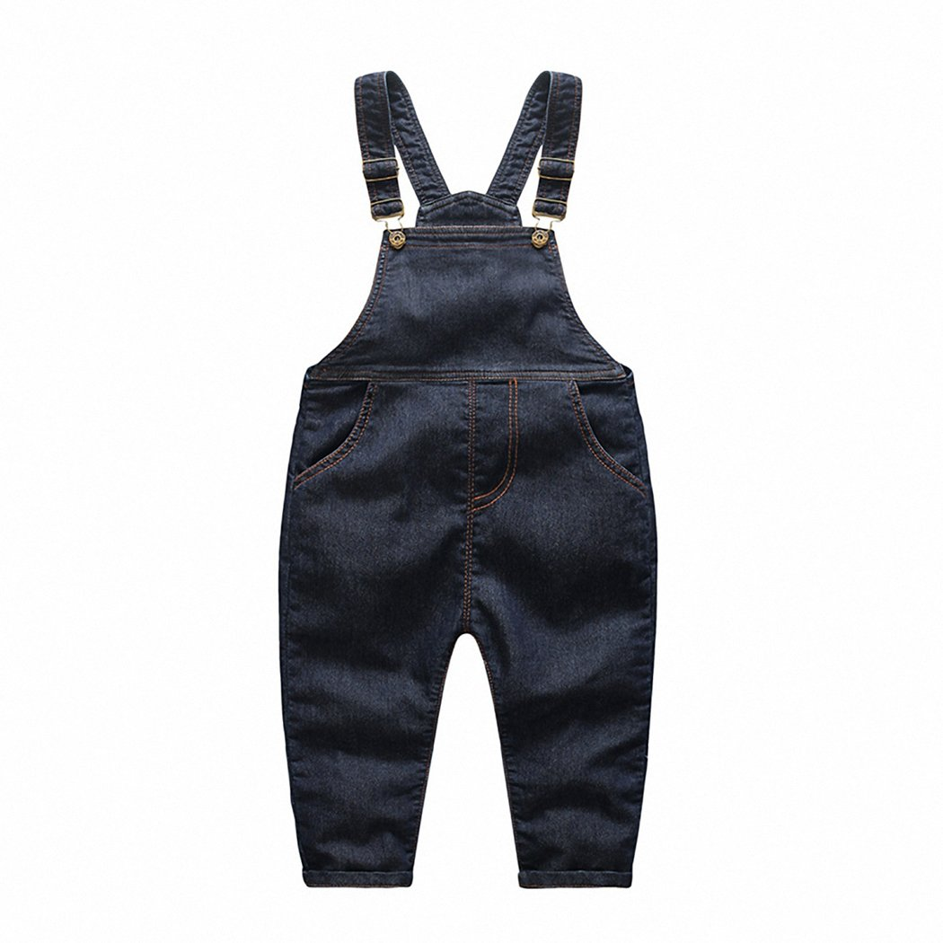 Kidscool Baby & Little Boys/girls Stone Washed Classic Denim Overalls