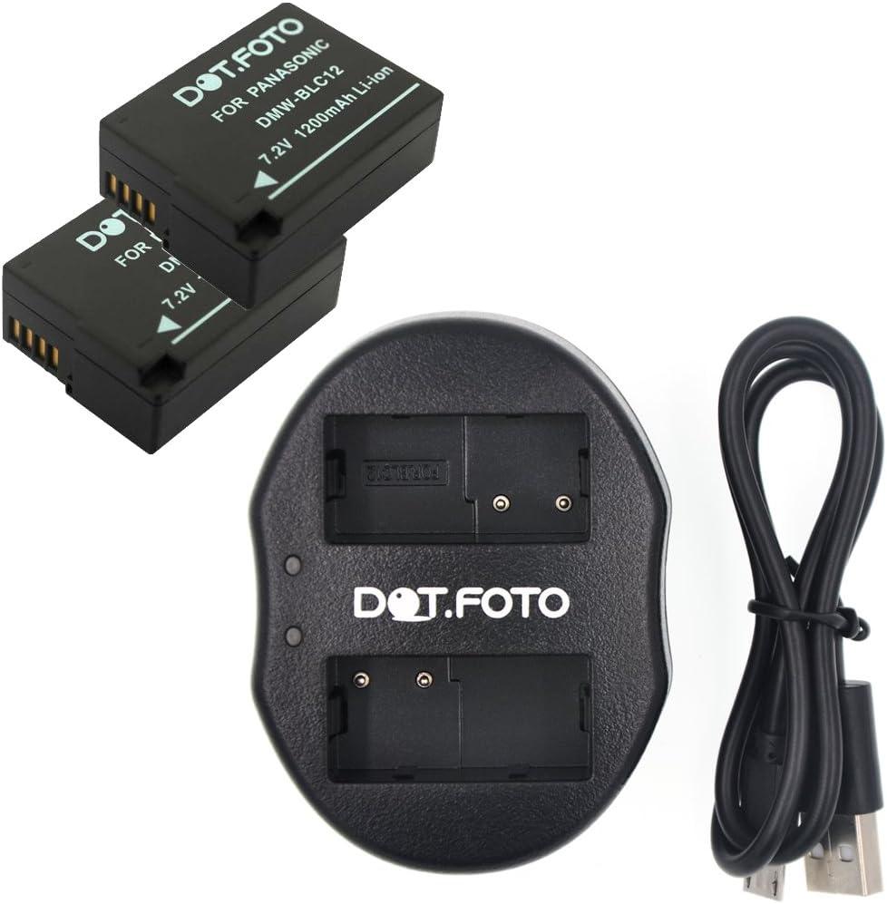 Dual Battery Charger for Panasonic DMW-BLC12 BLC12PP Lumix DMC-FZ1000 DMC-FZ300
