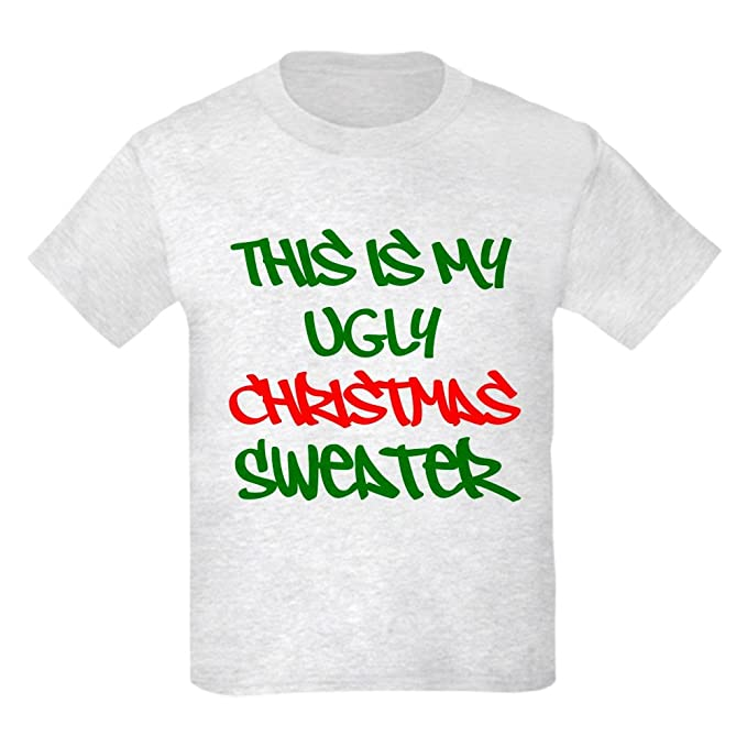 ca2ab462 CafePress - This is My Ugly Christmas Sweater T-Shirt - Kids Cotton T-