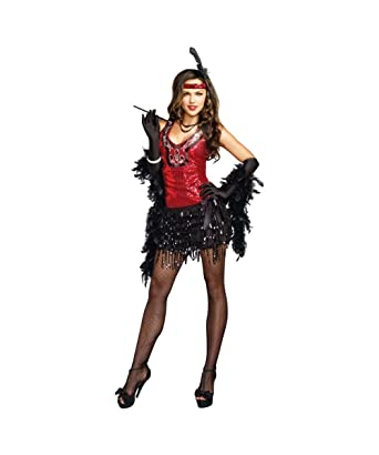 Sexy 1920s Shimmy Shake Roaring Twenties Gatsby Flapper Womens Costume  sc 1 st  Amazon.com : gatsby halloween costume  - Germanpascual.Com