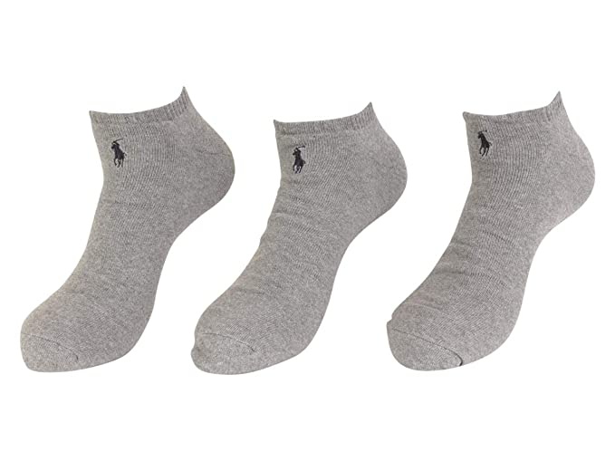2cc0f15e Polo Ralph Lauren Mens' Extended Size Athletic Ankle Socks No Show 3-pack