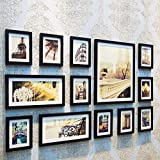 Home@Wall photo frame Home Wood Photo Frame Sets Of 13, Living Room Bedroom Sofa Background Hanging Paintings Aisle Corridor Photo Frame Combination ( Color : A , Size : 13Frames/14090CM )