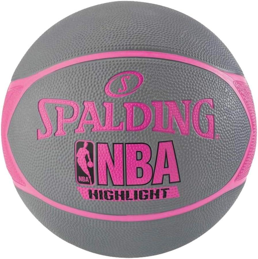 Spalding NBA Highlight 83-475Z Balón de Baloncesto, Mujer, Gris ...