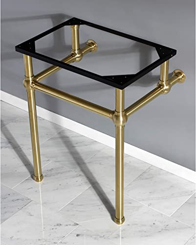 Fauceture VBH242030SB Brass Wash Basin Pedestal Leg, Brushed Brass