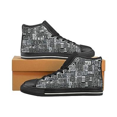279c44362eebf Amazon.com   InterestPrint Womens Canvas Shoes High Top Lace Up ...