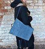 unisex rucksack blue, city rucksack blue, handmade rucksack, leather rucksack blue, rucksack women blue, rucksack backpack