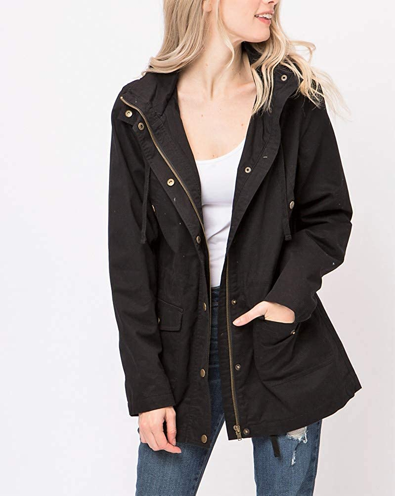 Onue Collection Women/'s Anorak Style Lightweight Hooded Jacket