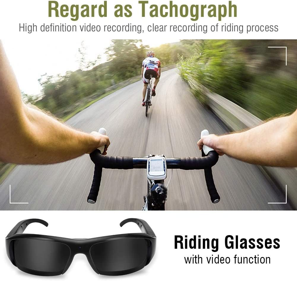 Outdoor Sports 1080P HD USB Rechargeable Sunglasses Mini Camera Video Camcorder