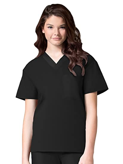 97df8a25c7b Amazon.com: Maevn Unisex Core V-Neck Top: Medical Scrubs Shirts ...