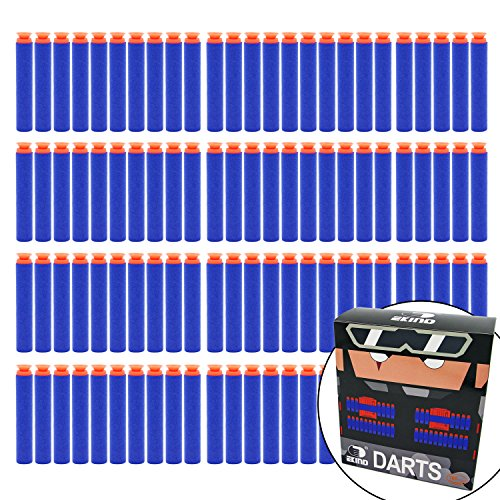 EKIND 100 Pcs 7.2cm Foam Suction Darts for Nerf N-strike Elite Series Blasters Toy Gun(Blue)
