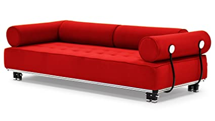 Noble House Noble House Welles Mid-Century Modern Tufted Red Fabric  Sectional Sofa Set, Red/ Brown from Home Depot | People