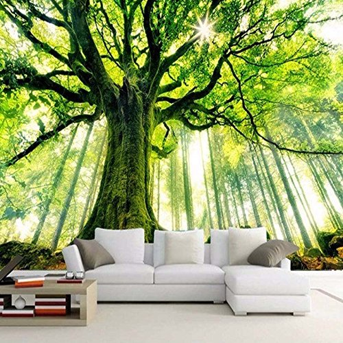 Customized Any Size Forest Scenic and Warm Sun Mural Wallpaper Living Room Sofa Bedroom TV Backdrop Wallpaper Mural 3D cchpfcc-280X200CM