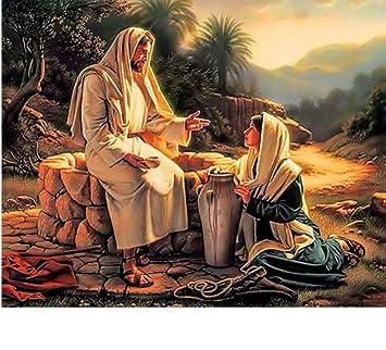 Jesús Sagrado Corazón Diamante Pintura Diálogo Enseñar La