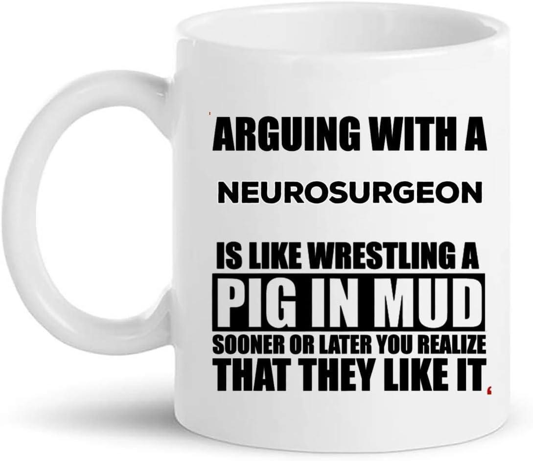 Taza del neurocirujano taza de café   Regalo de la camisa de los neurocirujanos   Médicos Neurólogos - Regalos de cumpleaños de neurocirugía para hombres y mujeres