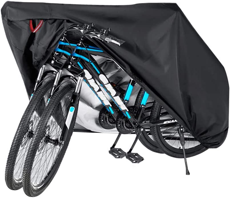 Amazon Com Bike Bicycle Cover Waterproof Outdoor Motorcycle Covers Xl Xxl For 2 3 Bikes Dust Rain Wind Snow Proof Lock Hole For Mountain Road Electric Bike Sports Outdoors