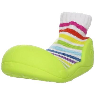 Attipas Boy's Stripe Shoe Green 5.5