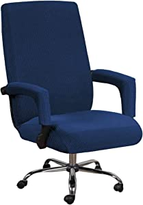 VIENLOVE Office Chair Covers Polyester Blend Soft Furniture Protector Armchair Slipcover Stretch with Arm Covers Feature Textured Machine Washable Jacquard Knitted Fabric