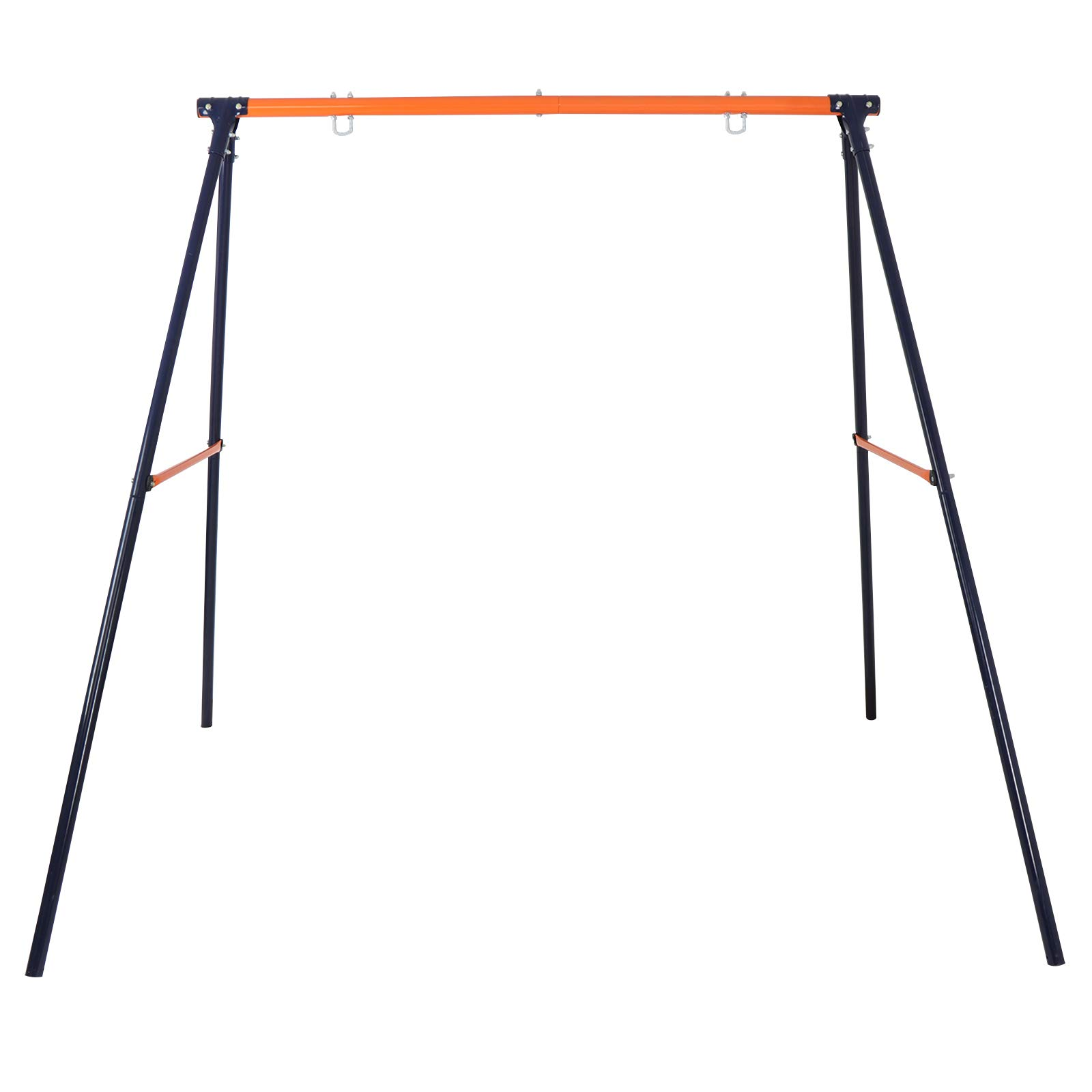 LEMY Large Heavy Duty All-Steel Swing Frame 70.9'' Height 86.6'' Length 220 LB Weight Capacity Metal A-Frame Swing Stand