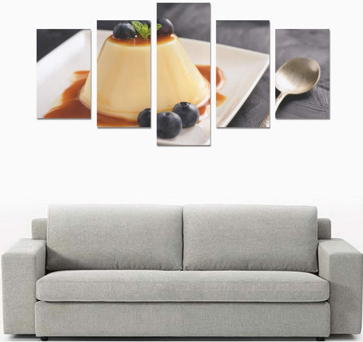 Amazon Com Homemade Caramel Custard Pudding No Frame Canvas Print Sets Wall Art Picture 5 Pieces Paintings Posters Prints Photo Image On Canvas Ready To Hang For Living Room Bedroom Home Office Wall