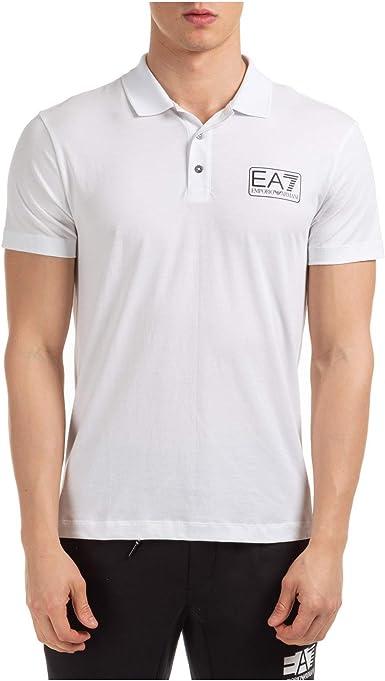 Emporio Armani EA7 Hombre Polo White M: Amazon.es: Ropa y accesorios