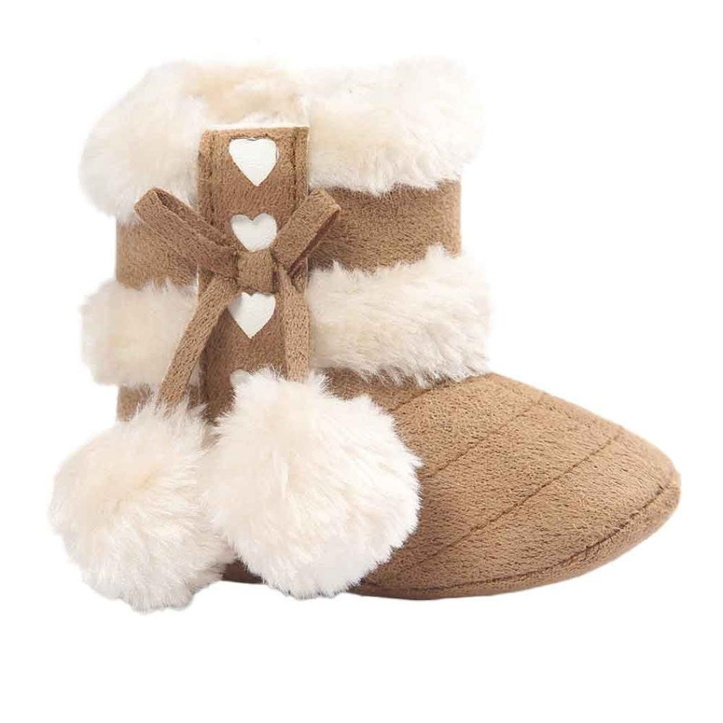 12, Khaki Baby Boots Misaky Soft Sole Soft Crib Shoes Toddler Snow Boots Anti-slip design