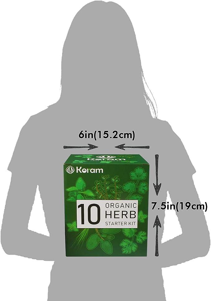 KORAM Kit de jardín de hierbas cultivo Set de iniciación de ...