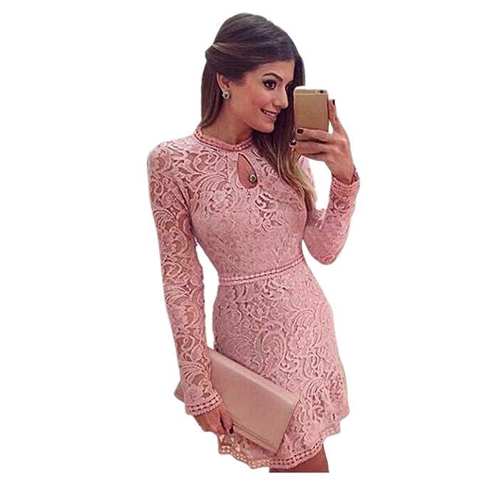 Langes enges kleid rosa
